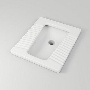 3D toilet squat model