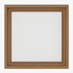 Frame with picture square 01 3D model