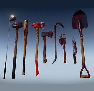3D Zombie Melee Weapons model