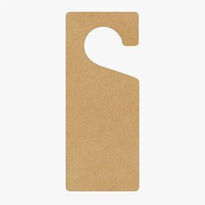 mockup cardboard handle 3D model