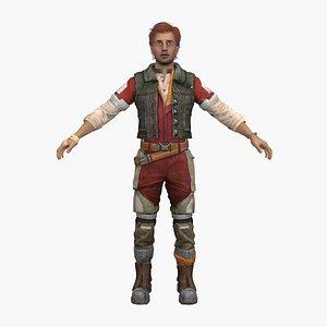 male warrior 3D model