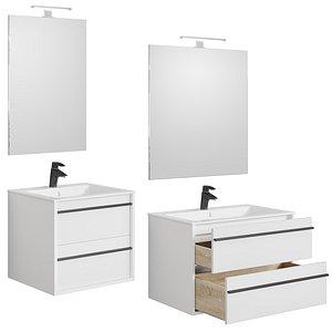 Furniture set Lino white 60-70-80-90 and Pencil case 3D model