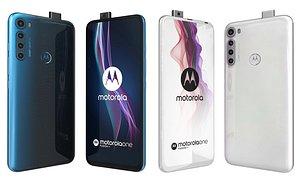 Motorola One Fusion Twilight Blue And Moonlight White 3D model