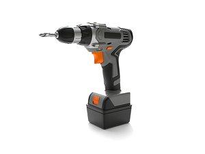 cordless power drill 3D model