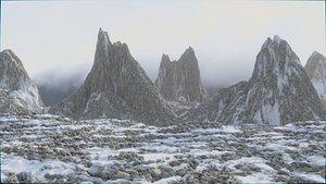 Landscapes 1 - Snowy Mountain 1e 3D model