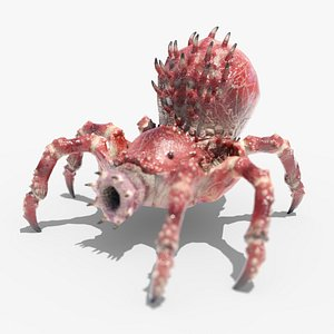 3D model spider monster rigged ready