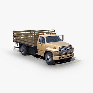 3D flatbed truck model