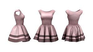 Retro Style Dress 3D model