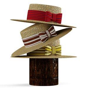3D beach hat model