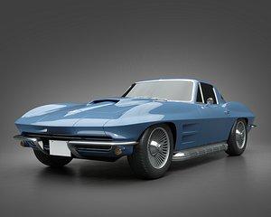 3D 1966 Chevrolet Corvette