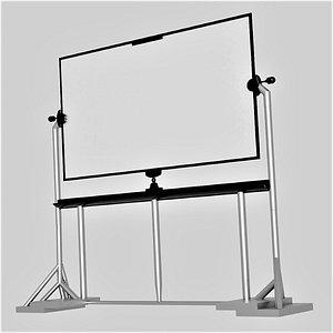 White board whiteboard 3D model