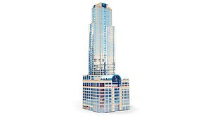3D Building 100 E Huron Condominium Chicago model