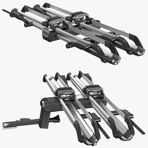 3D model Thule Helium Platform 2 Bike Rack Folded