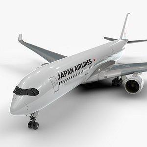 3D a350-900 jal l1104 model