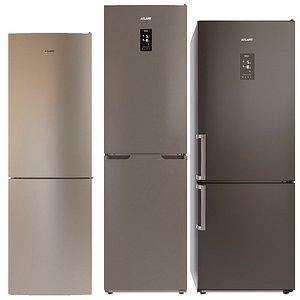3D model set atlant refrigerator