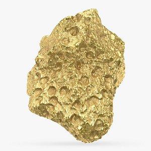 3D Gold Nugget 03