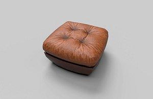 3D Low Poly Chair Pouf Malibu model