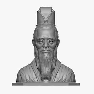 3D Confucius Sculpture bust 3D print