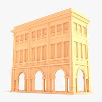 Building façade 001 Triple Extended