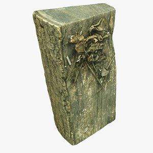 3D wood log
