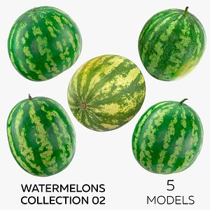 3D Watermelons Collection 02 - 5 models model