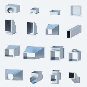 ventilation rectangular shaped products 3D model