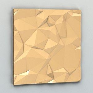 3D Wall panel 028 model