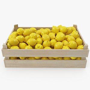 03-04 wooden crate lemons 3D