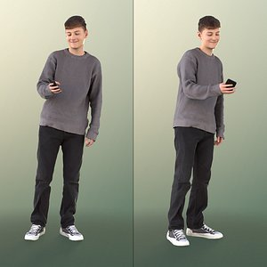 boy teen casual 3D model