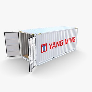 20ft Shipping Container Yang Ming 3D model