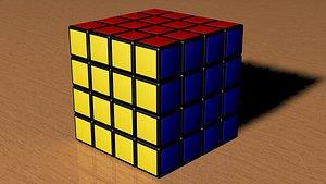 3D 4x4 Rubiks Cube