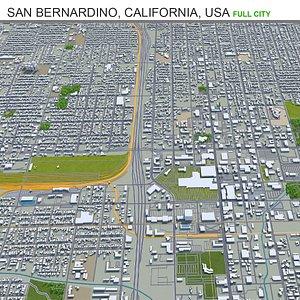 3D San Bernardino California USA model