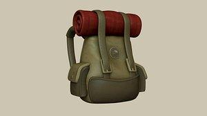 3D backpack - adventurer character model