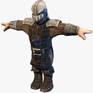 castle guard warrior 3D model