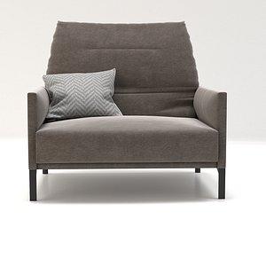3D avalanche armchair model
