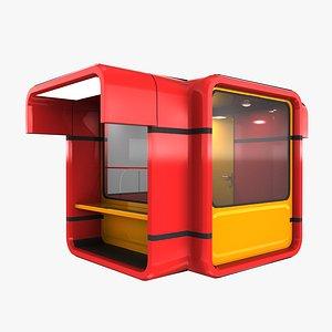 3D kiosk modern