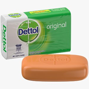 dettol soap 3D