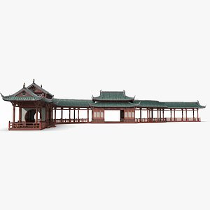 asian ancient architecture 3D model
