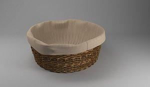 Bamboo Basket 3D model
