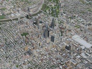3D model Philadelphia City 7x7km