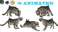 Snow Leopard 5 Animated 3D model
