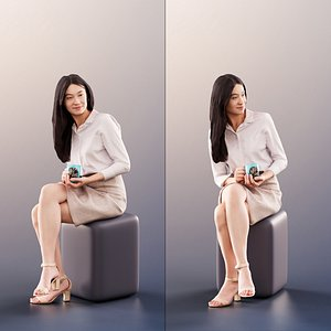 woman young business 3D model