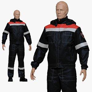 3D 001155 engineering suit black