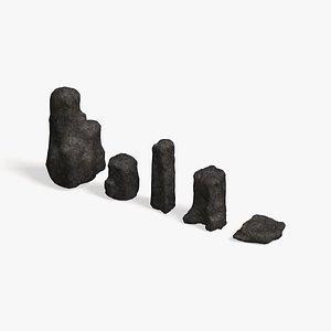 3D Rock Set 06 - Base model