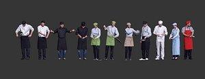 3D chef character model