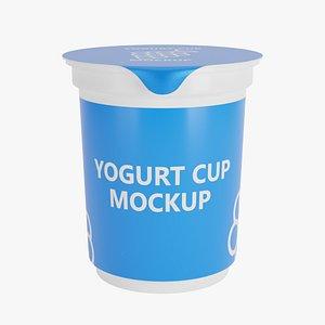 yogurt cup 3D