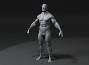 3D model Superhero Male Body Base Mesh10k Polygons
