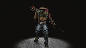 3D model TMNT Raphael game ready