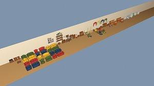 3D model Cartoon Furniture MEGA PACK