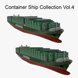 3D Container Ship Collection Vol.4